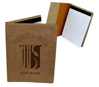 Theta Chi Leatherette Portfolio with Notepad