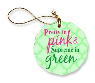 Alpha Kappa Alpha Porcelain Ornament Snowball