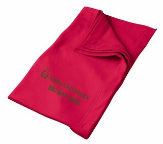 Alpha Chi Omega Old School Logo Sweatshirt Blanket