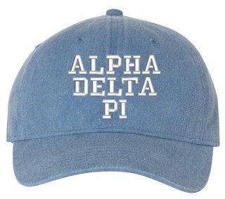 Alpha Delta Pi Pigment Dyed Baseball Cap