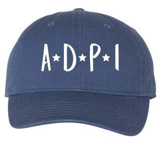 Alpha Delta Pi Starry Night Pigment Dyed Baseball Cap