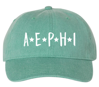 Alpha Epsilon Phi Starry Night Pigment Dyed Baseball Cap