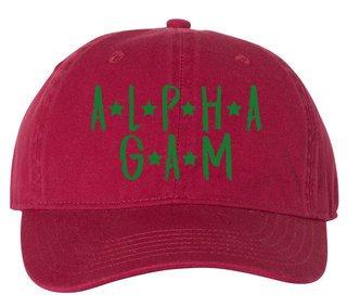 Alpha Gamma Delta Comfort Colors Starry Night Pigment Dyed Baseball Cap
