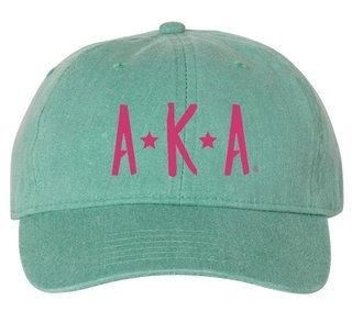 Alpha Kappa Alpha Starry Night Pigment Dyed Baseball Cap