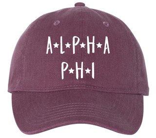 Alpha Phi Starry Night Pigment Dyed Baseball Cap