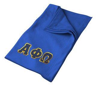 DISCOUNT-Alpha Phi Omega Twill Sweatshirt Blanket