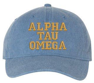 Alpha Tau Omega Pigment Dyed Baseball Cap