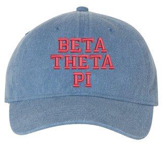 Beta Theta Pi Pigment Dyed Baseball Cap