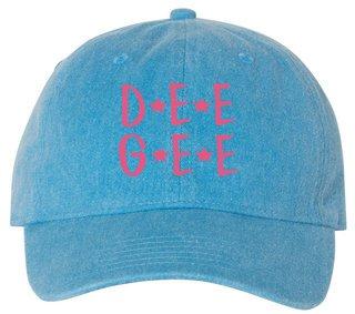 Delta Gamma Starry Night Pigment Dyed Baseball Cap
