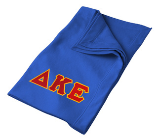 DISCOUNT-Delta Kappa Epsilon Twill Sweatshirt Blanket