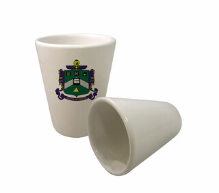 Delta Sigma Phi Crest Ceramic Collectors Glass