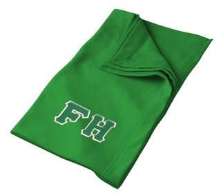DISCOUNT-FarmHouse Fraternity Lettered Twill Sweatshirt Blanket