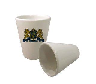 Phi Lambda Chi Crest Ceramic Collectors Glass
