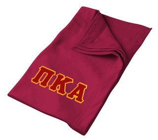 DISCOUNT-Pi Kappa Alpha Twill Sweatshirt Blanket