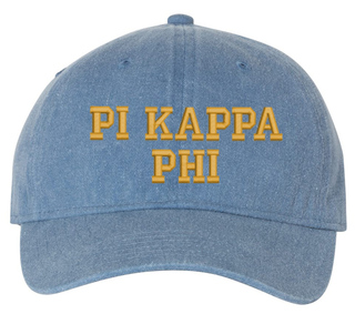 Pi Kappa Phi Pigment Dyed Baseball Cap