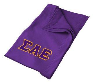 DISCOUNT-Sigma Alpha Epsilon Twill Sweatshirt Blanket