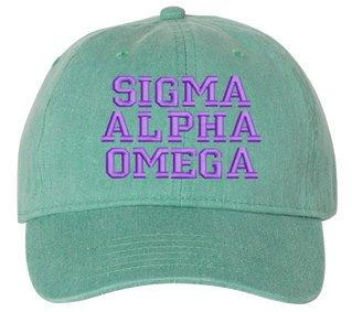 Sigma Alpha Omega Comfort Colors Pigment Dyed Baseball Cap