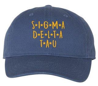 Sigma Delta Tau Starry Night Pigment Dyed Baseball Cap