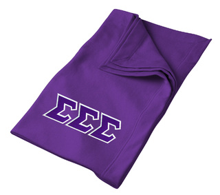 DISCOUNT-Sigma Sigma Sigma Lettered Twill Sweatshirt Blanket