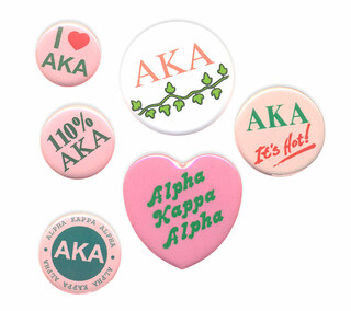 Alpha Kappa Alpha Sorority Buttons 6-Pack