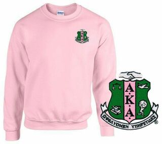 DISCOUNT-Alpha Kappa Alpha World Famous Crest - Shield Crewneck Sweatshirt
