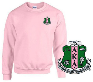 DISCOUNT-Alpha Kappa Alpha World Famous Crest - Shield Crewneck Sweatshirt