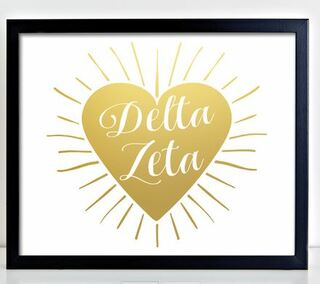 Delta Zeta Heart Burst Foil Print