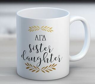 Alpha Gamma Delta Little Coffee Mug