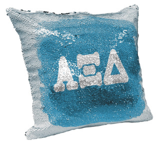 Alpha Xi Delta Sorority Flip Sequin Throw Pillow Cover