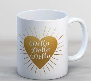 Delta Delta Delta Heart Burst Coffee Mug