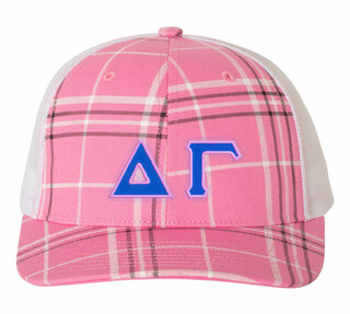Delta Gamma Plaid Snapback Trucker Hat