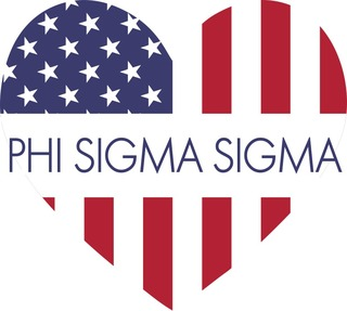 Phi Sigma Sigma American Flag Greek Heart Shaped Decal