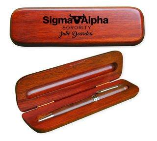 Sigma Alpha Mascot Wooden Pen Set
