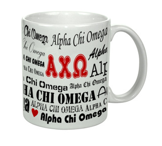 Alpha Chi Omega Collage Coffee Mug