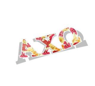 Alpha Chi Omega Floral Greek Letter Sticker