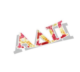 Alpha Delta Pi Floral Greek Letter Sticker