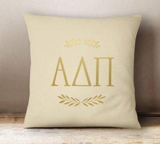 Alpha Delta Pi Foil Letters Pillow