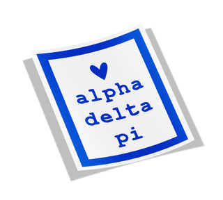 Alpha Delta Pi Simple Heart Sticker