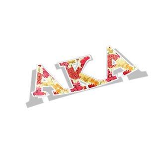 Alpha Kappa Alpha Floral Greek Letter Sticker