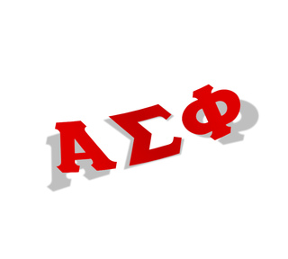Alpha Sigma Phi Big Greek Letter Window Sticker Decal