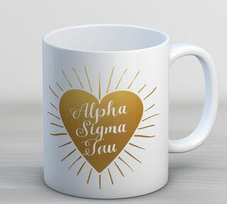 Alpha Sigma Tau Heart Burst Coffee Mug