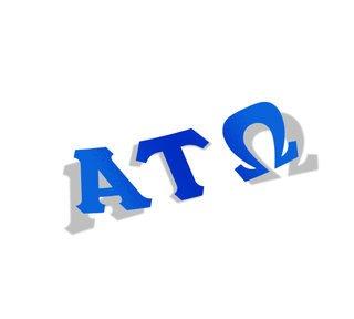 Alpha Tau Omega Big Greek Letter Window Sticker Decal