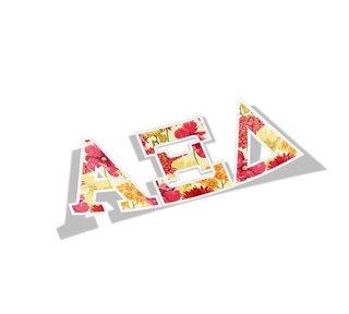 Alpha Xi Delta Floral Greek Letter Sticker