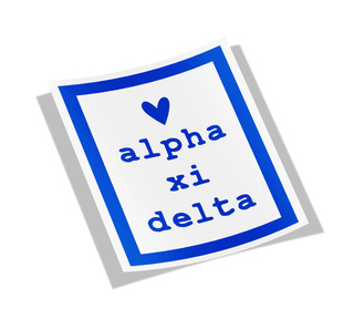 Alpha Xi Delta Simple Heart Sticker