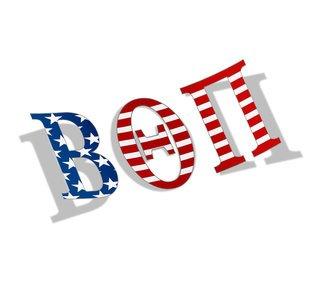 "Beta Theta Pi American Flag Greek Letter Sticker - 2.5"" Tall"