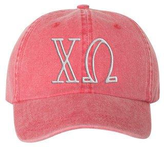 Chi Omega Carson Greek Letter Hats