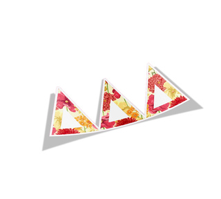 Delta Delta Delta Floral Greek Letter Sticker