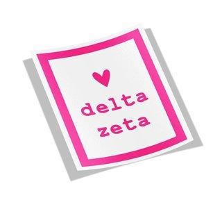 Delta Zeta Simple Heart Sticker