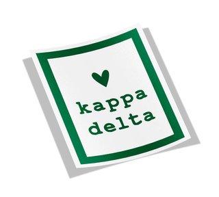 Kappa Delta Simple Heart Sticker