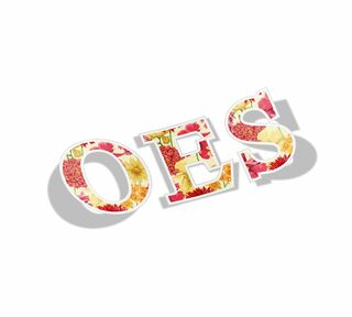 OES Floral Greek Letter Sticker
